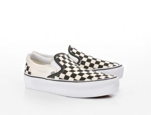 Vans – UA CLASSIC SLIP-ON P BLK WHTCHCKE – VNBWW