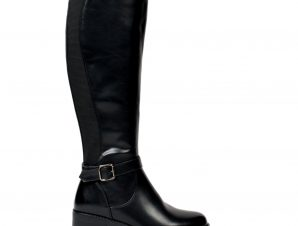 0789 ID Γυναικείες φλάτ μπότες – Μαύρο-Μαύρο