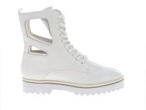 Kendall and Kylie – K&K SHOES KKLANGMORE 74144 WHITE VEGAN PATENT/LYCRA – TYPE