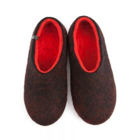 House slippers DUAL BLACK red