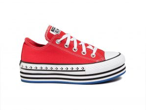 Converse – CHUCK TAYLOR ALL STAR LIFT ARCHIVAL CANVAS – 610-UNIVERSITY RED/WHITE/BLACK