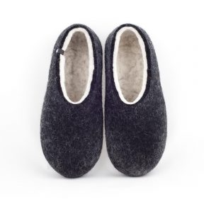 House slippers DUAL BLACK white