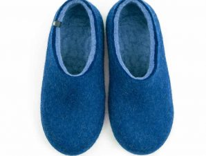 Wool slippers DUAL BLUE skyblue
