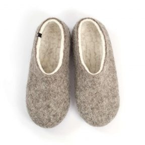 Οrganic slippers DUAL NATURAL gray white