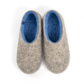 Breathable slippers DUAL NATURAL gray sky blue