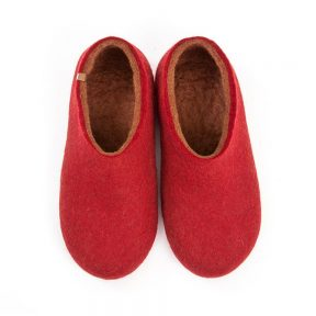 Wooppers felt slippers DUAL RED brown