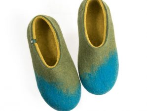 House shoes AMIGOS turquoise olive green lime