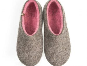 Pink slippers DUAL NATURAL gray pink