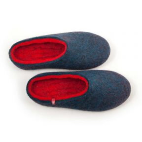 """House slippers """"COLORI"""" blue – red"""