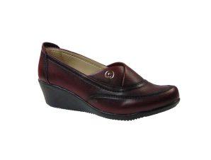 Tsimpolis Shoes 600 Slip On Απο Συνθετικό Αδιάβροχο Δέρμα Μπορντό