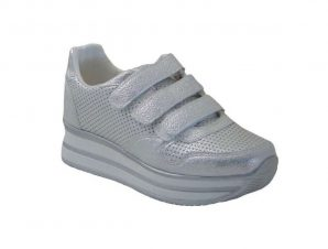 Tsimpolis Shoes 107 Sneaker Από Τεχνόδερμα Ασημί