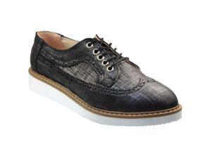 Tsimpolis Shoes 691 Oxford Απο Συνθετικό Δέρμα Μαύρο