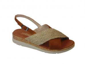 Tsimpolis Shoes 102 Πέδιλο Από Τεχνοδέρμα Ταμπά