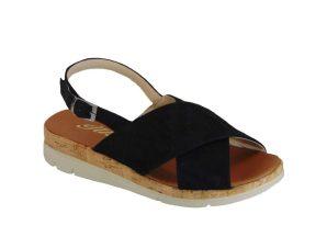 Tsimpolis Shoes 102 Πέδιλο Από Τεχνοδέρμα Μαύρο