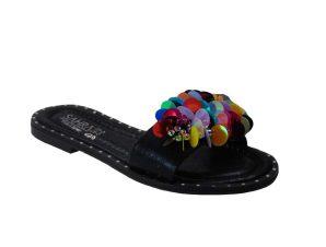 Tsimpolis Shoes 011 Παντόφλα Από Τεχνόδερμα Μαύρη