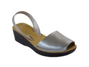 Tsimpolis Shoes Y50 Πέδιλο Από Τεχνόδερμα Ασημί