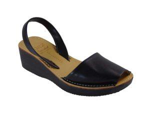 Tsimpolis Shoes Y50 Πέδιλο Από Τεχνόδερμα Μαύρο