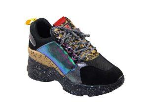 Vera Blum VB9886 Γυναικείο Sneaker Από Τεχνόδερμα Μαύρο