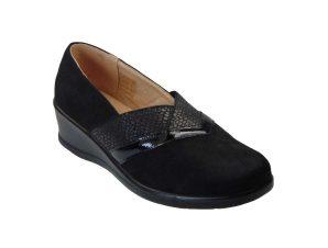 Tsimpolis Shoes ZS12-6 Γυναικείο Slip On Από Τεχνοκαστόρ Μαύρο