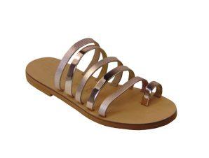 Tsimpolis Shoes TS119-5 Γυναικεία Δερμάτινη Παντόφλα Χάλκινη