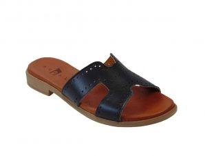 Tsimpolis Shoes POS01 Γυναικεία Δερμάτινη Παντόφλα Μαύρη
