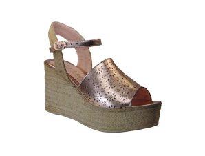 Tsimpolis Shoes 6315 Πλατφόρμα Απο Τεχνονάμπουκ Πλατινέ