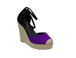 Tsimpolis Shoes LY2A86 Πλατφόρμα Από Τεχνόδερμα Μώβ