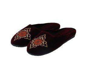 Tsimpolis Shoes N84 Γυναικεία Παντόφλα Σπιτιού Μπορντό
