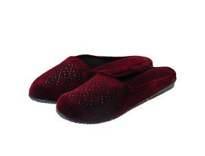 Tsimpolis Shoes N82 Γυναικεία Παντόφλα Σπιτιού Μπορντό