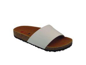 Tsimpolis Shoes D7605-2 Γυναικεία Ανατομική Παντόφλα Λευκή