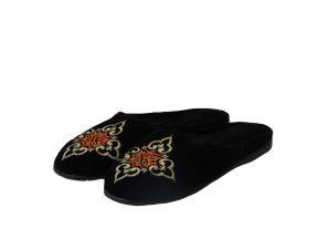 Tsimpolis Shoes N84 Γυναικεία Παντόφλα Σπιτιού Μαύρη