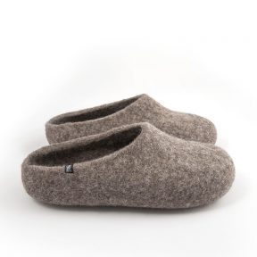 """Gray mules slippers """"SOLO"""""""