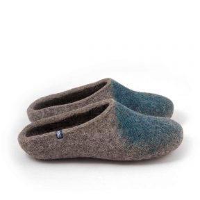 """Womens mules slippers """"SOLO"""" blue teal"""