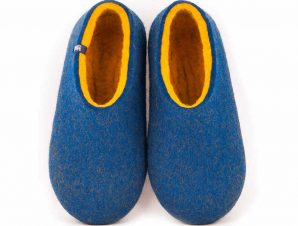 Wool slippers DUAL BLUE yellow