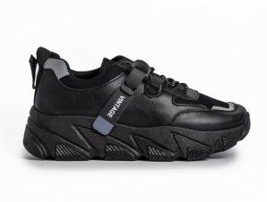 Γυναικεία μαύρα αθλητικά παπούτσια FM