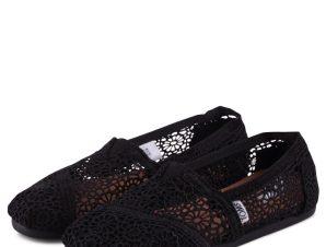 Toms Classic Black Moroccan Crochet 10007853 Μαύρο