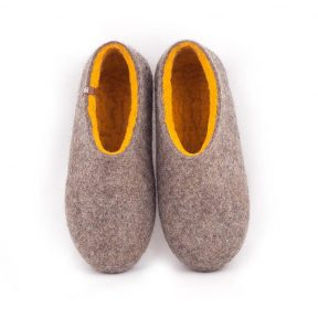 womens house shoes DUAL NATURAL gray yellow