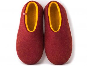 Wooppers felt slippers DUAL RED yellow