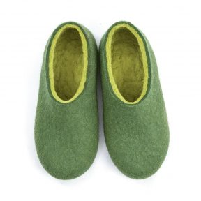 Shoe slippers DUAL OLIVE GREEN lime